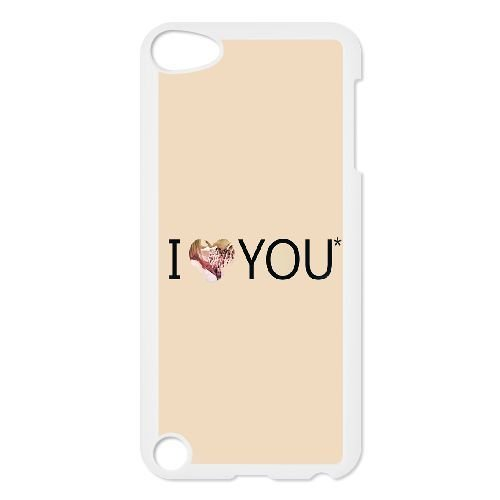 Durable Rubber Cases Ipod Touch 5 Cell Phone Case White I Love You Typography Pink Heart Gwlvq Protection Cover
