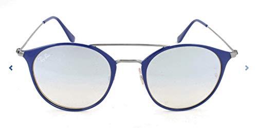 RAYBAN Unisex-Erwachsene Sonnenbrille RB3546, Blau (Gunmetal Top Bluee/Greyflashgradient), 49