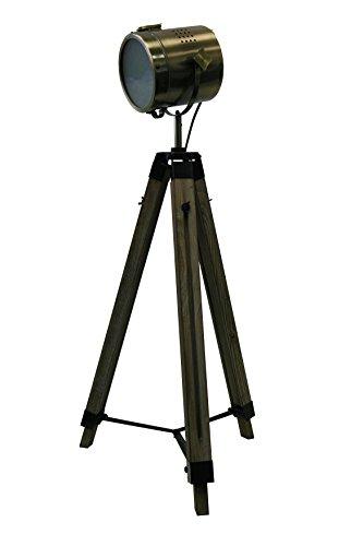STATIV STEHLEUCHTE Höhe: 95-139cm RETRO STEHLAMPE Industrie Design DREIBEIN 605450
