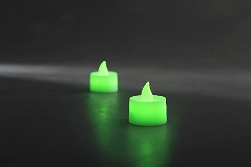 Konstsmide Navidad LED Vela LED Juego de 2portavelas de té verde | ledes fijada | 1987–900