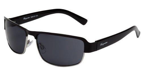 Burgmeister Herren SBM127-181 Savannah Rechteckig Sonnenbrille, Black - Schwarz (Schwarz Schwarz)