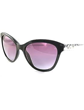Liu Jo Damen Sonnenbrille LJ613S 001 schwarz-weiss/Animalprint