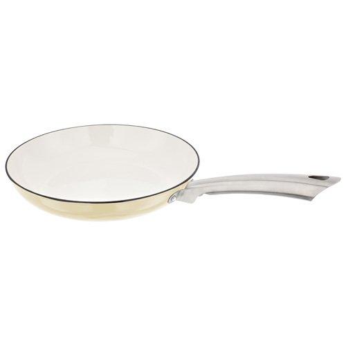 Stellar JA37V 27 cm Bratpfanne, Edelstahl, weiß, 47.9 x 29.6 x 10.9 cm (Keramik-pfanne Für Toaster)