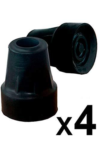 pepe-puntale, puntale per stampelle 19 mm e 18 mm, gommini stampelle, puntale stampelle, piedini per stampelle, gommino per stampella, gomma stampella, piedini stampelle 4 unitàs nero