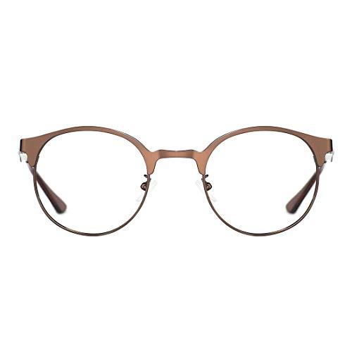 TIJN Neue Rund Metall Brillengestelle Herren Brille Ohne Stärke Metallgestell Brillenfassung Damen Herren