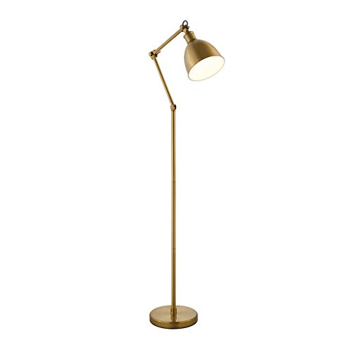 Standleuchten & Deckenfluter Stehleuchte Wohnzimmer Sofa Schlafzimmer Stehleuchte Einfache Licht Luxus Arbeitszimmer Leselampe Metall Stehleuchte (Color : Metallic, Size : 30 * 25 * 155cm) -