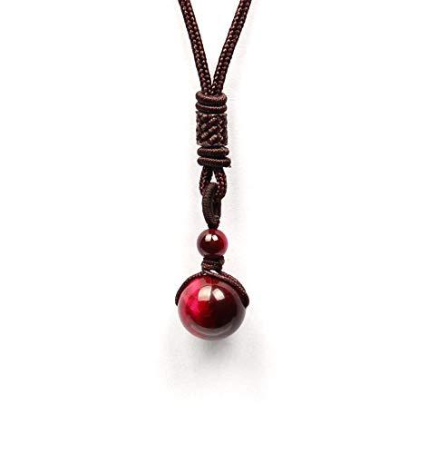 GOOD.designs ® Halskette mit echter Naturstein - Tigerperle | Energiehalskette in Rosa rosafarbenekette rosahalskette halsketterosa Rose rosadamenschmuck damenhalskette frauenhalskette