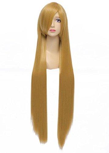 Générique longue ligne droite Anime Cheveux Halloween Costume Cosplay Perruques 100 cm