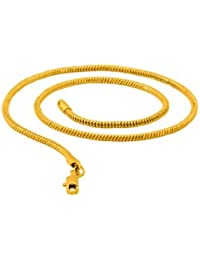 Dare By Yellow Gold Snake Chain For Men