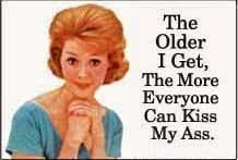 The Older I Get, The More Everyone... funny fridge magnet