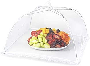 Expeditious®Foldable Mesh Screen Food Umbrella Cover Picnic Barbecue Party Sports Fly Mosquito Net -w-White Color
