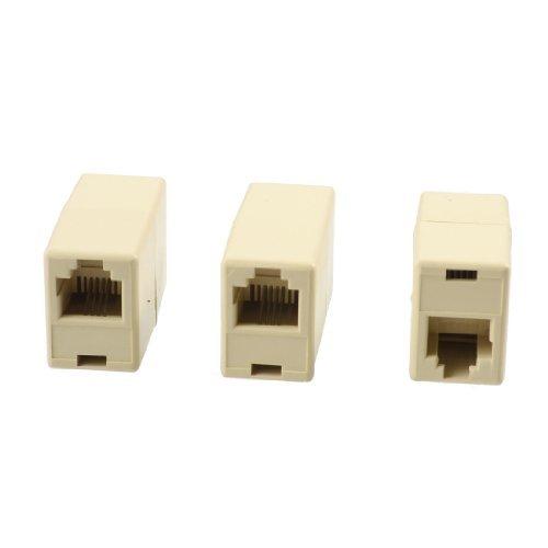 RJ11 8P4C Fax Gerade Koppler-Verbindungs ??Extender 3 Stück