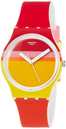 Swatch Reloj Analógico para Hombre de Cuarzo con Correa en Silicona GW198