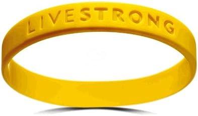 Original LIVESTRONG Armband YOUTH NIKE Silikon Damen Jugendliche Gelb Durchmesser 5,5 cm incl. 1$ Lance Armstrong Krebshilfe