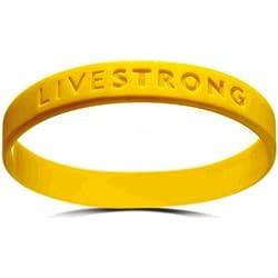 Original Livestrong–Pulsera Youth Nike silicona Mujer Teen Amarillo Diámetro 5,5cm incl. 1$ Lance Armstrong Cáncer ayuda