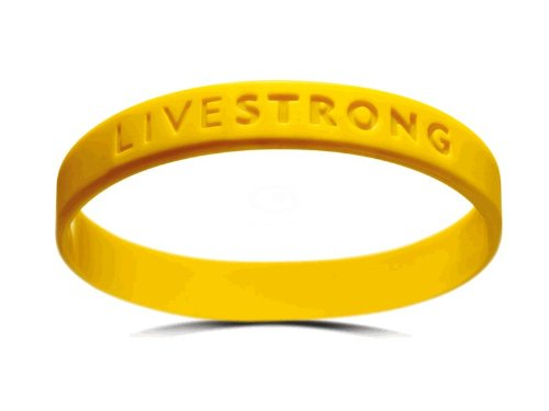 Original LIVESTRONG Armband YOUTH NIKE Silikon Damen Jugendliche Gelb Durchmesser 5,5 cm incl. 1$ Lance Armstrong - Silikon-armband-nike