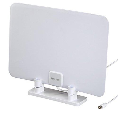 Hdtv Radio (Hama Zimmer-/ Flach Antenne (in flachem Design, digital, passiv, geeignet für HD-TV/Radio DVB-T/DVB-T2))