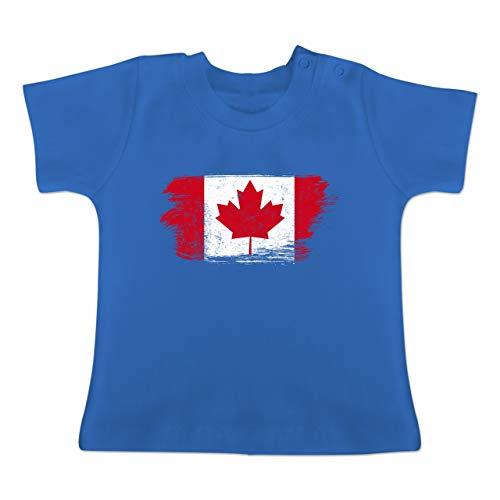 Städte & Länder Baby - Kanada Vintage - 12-18 Monate - Royalblau - BZ02 - Baby T-Shirt Kurzarm