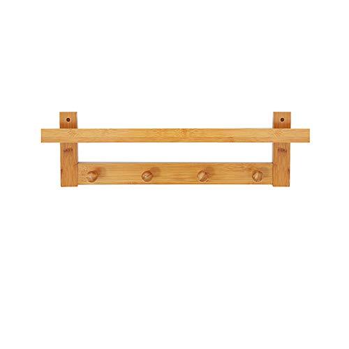 Wall Hanging Coat Rack (Solid Wood Hanging Wall Rack, Wall Porch Decorative Hook solid Wood Hook Hanger Creative Coat Rack)