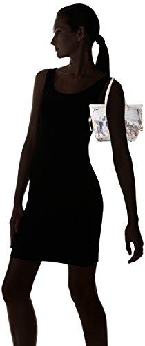 YNOT Shopping M, Borsa a Spalla Donna, 46 x 30 x 17.5 cm (W x H x L) Multicolore (Beige Manhattan)