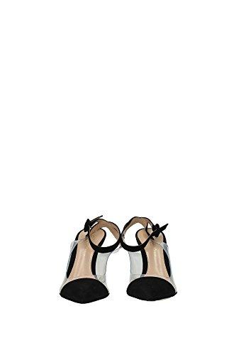 G9471085RIC Gianvito Rossi Sandale Femme Chamois Noir Noir