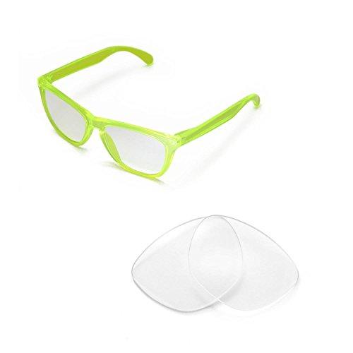 Walleva Ersatzgläser für Oakley Frogskins Sonnenbrille - Mehrfache Optionen (Klar) Oakley Frogskins Klar
