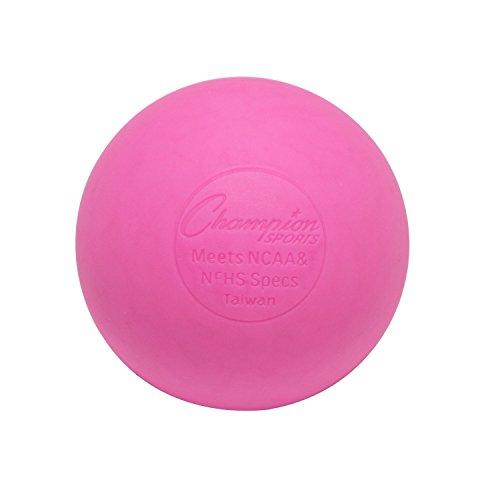 Champion Sports Farbigen Lacrosse-Bälle, offizielle Größe für professionelle, College- und Schul-Spiele,NCAA NFHS Zertifiziert, Rose, 1 Ball