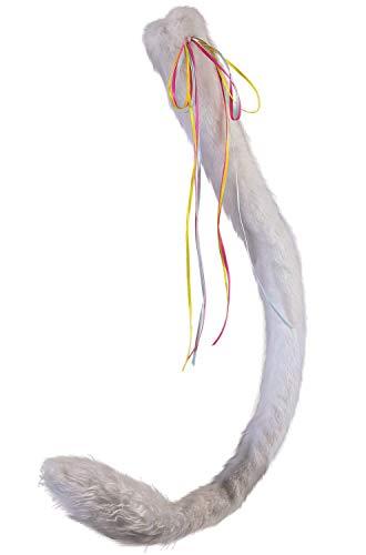 Pferdeschweif Kostüm - Forum Novelties X80426 Einhornschwanz, Damen, Weiß,