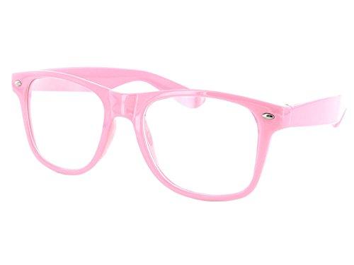 Wayfarer Atzen Sonnenbrille Nerd Brille Hornbrille alle Farben, wählen:816E (Farben Nerd Brille)