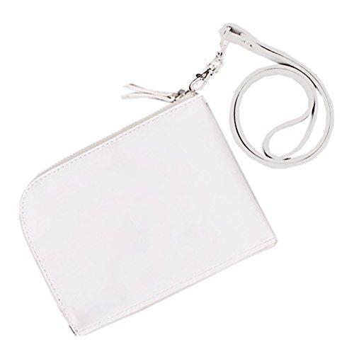 Artone Annata Mini Moneta Borsa Pu Cellulare Custodia Con Cinghia Staccabile Fit Iphone 6 Plus Bianca Bianco