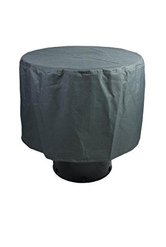 Premium-Abdeckung für Gartentisch rund (d = 100cm, h= 75cm, Anthrazit), Schutzhülle für Grill- und Kamintisch, RelaxGrill