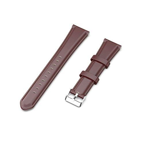 Xiangrun Fashion T-förmiges Ölwachs-Kalbslederarmband für Ticwatch Pro E2 S2 - E2-schaum