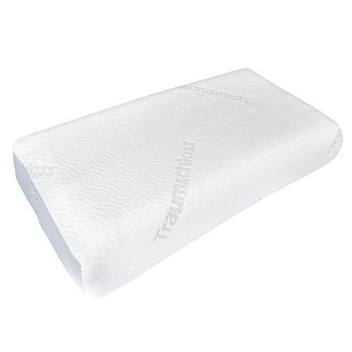 Traumschloss Premium Plus Nackenstützkissen - Das Nackenstützkissen für sorgenfreien Schlaf - hochwertiger Viscoschaumkern (RG85) mit Memory-Effekt - 40x60 cm