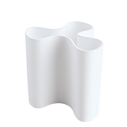 koziol Clara De plástico Color blanco jarron - jarrones (De plástico, Color...