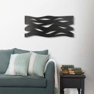 Objet décoratif mural Ripple Wall Couleur Noir Matière Métal
