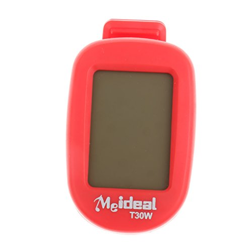 Generic Clip on LCD Digital Chromatic Electric Guitar Tuner for Bass Ukulele Banjo Mandolin Red  available at amazon for Rs.305