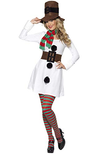 Smiffys Miss Snowman Costume for Women, S, M, L