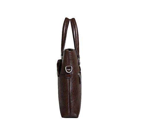 Beiläufige Art Und Weisemanngeschäftshandtaschenquerschnitt Aktenkofferbeutel-Schulterbeutel Kurierbeutel-Computerbeutel Brown1
