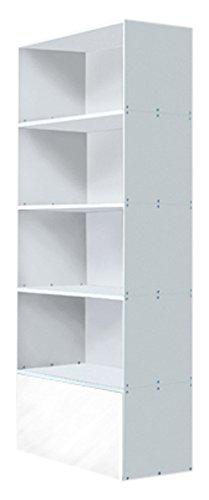 weko Systemmöbel baureihe e AZ-TYP-9B Schrank, Holz, hochglanz weiß, 40 x 80 x 201 cm
