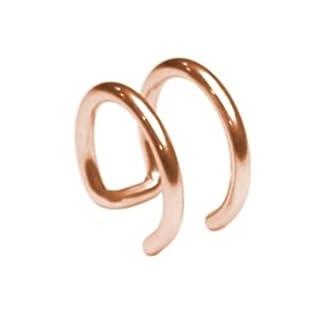eeddoo Fake Piercing Rosegold - Ohrklemme Ear Cuff - Zum Einfach anklemmen ans Ohr - Kein Piercing notwendig