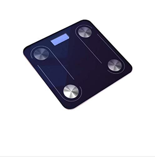 Ayanx Digital Balance Körperfett 180kg Boden Smart Electronic Backlit Digital Badezimmer Körpergewicht für Bluetooth APP Android oder für IOS Black