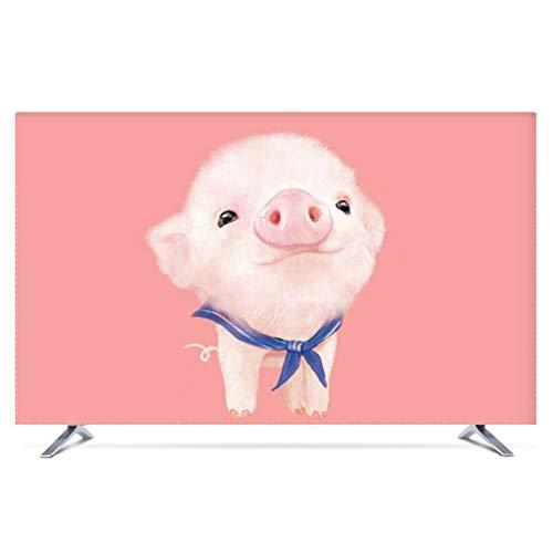 Monitor Hülle Polyesterbezug Staubdichtes, antistatisches LCD- / LED- / HD-Display-Schutzgehäuse Kompatibel mit Curved-TV, Desktop-TV und Hänge-TV 22-80 Zoll-75Zoll-D