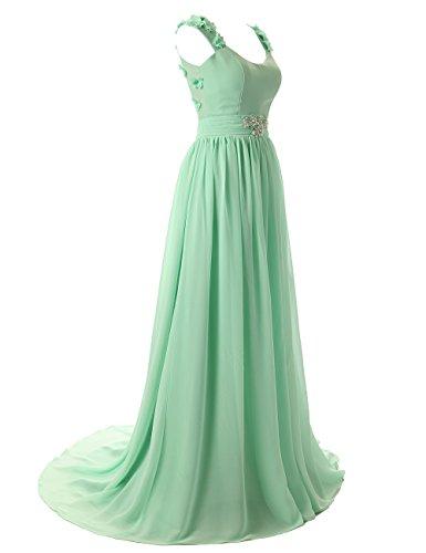 Dressystar Robe de soirée /de bal à bretelles longue avec des pétales Décolletée dans le dos Blush