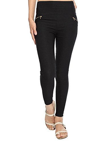 Zacharias Girls Fit Pant Jegging (BLACK)