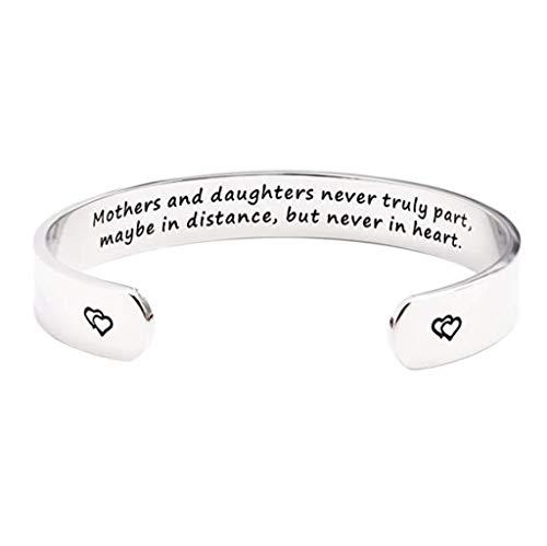 Gaddrt Schmuck Armband Happy Muttertag Schmuck Armband Mütter und Töchter Geschenke - Square D Trennen