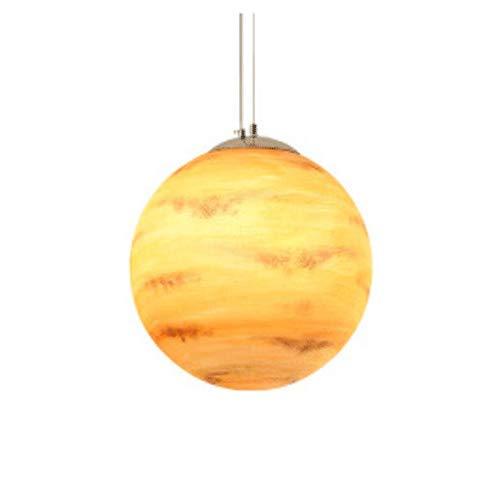 Creative Planet Galaxy Pendelleuchte, dekorative Pendelleuchte zum Einstecken, DIY 1-Licht Deckenleuchte, Hängeleuchte für Mädchen Kids Kitchen Hall School (Farbe : Mars-40cm/15.75'') -