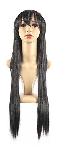 (Xiaoyu lange glatte Haare cosplay Kostüm Party Halloween Perücken - schwarz)