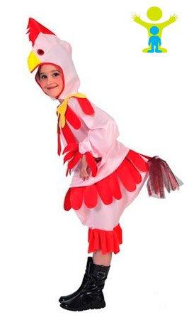 Disfraz de gallina para niña - 7 - 9 años