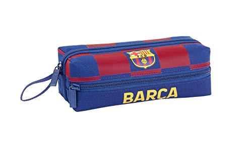 FC Barcelona Estuche portatodo Triple 3 Cremalleras