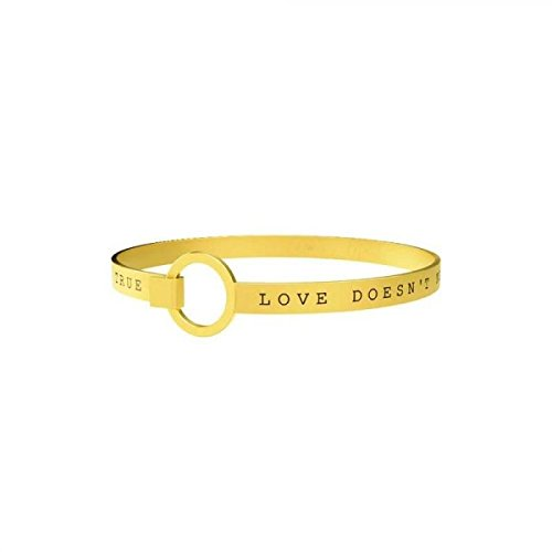 KIDULT LIFE Collection Bracciale in acciaio pvd gold LOVE doen't need ... 231681